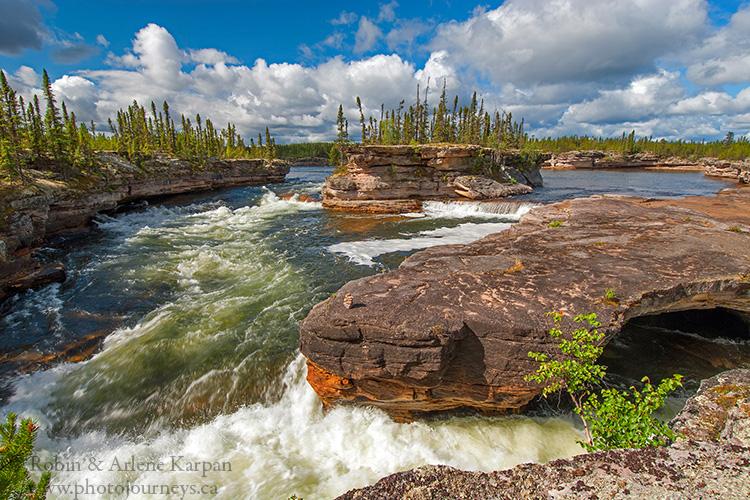 Manitou Falls, Fond du Lac River, Saskatchewan