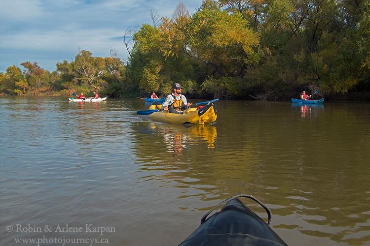 Kayaking on the Salt River near Phoenix