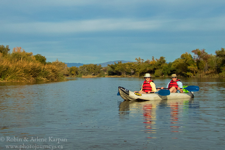 Kayaking on the Salt River near Phoenix