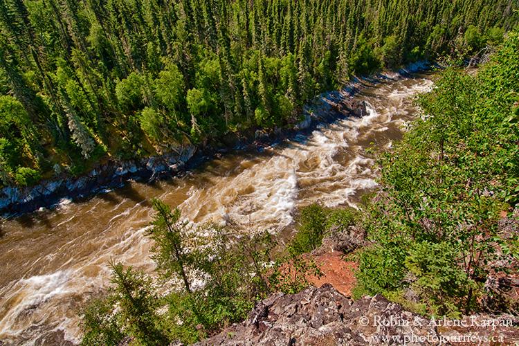 Wapumon Gorge, Churchill River, Saskatchewan