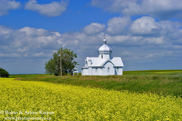 Ukrainian church near Smuts Saskatchewan