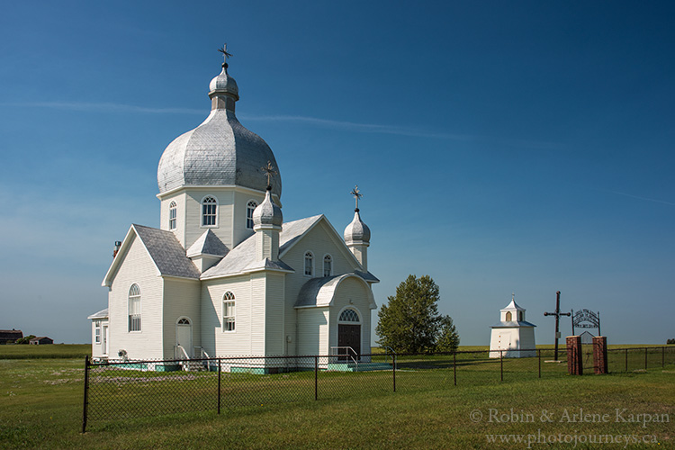 Ukrainian Church near Smuts, Saskatchewan