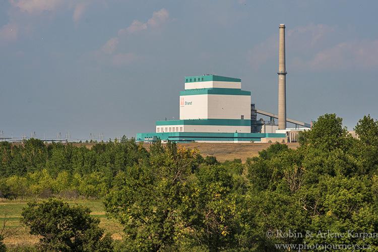 Shand Power Station near Estevan, Souris River Valley, Saskatchewan, Canada