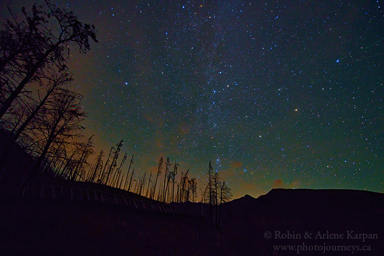Night sky, Waterton Lakes National Park, Alberta