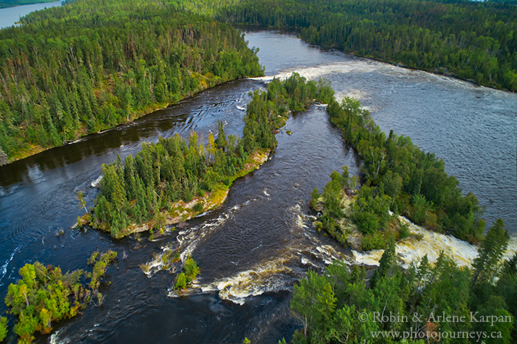 Twin Falls, Churchill River, northern Saskatchewan