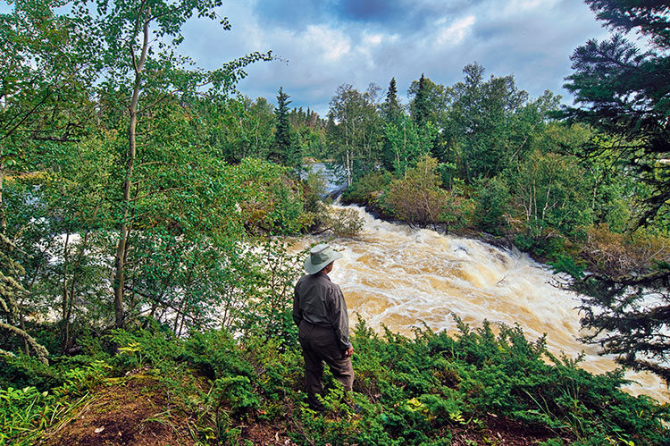 Twin Falls, Churchill River, northern Saskatchewan