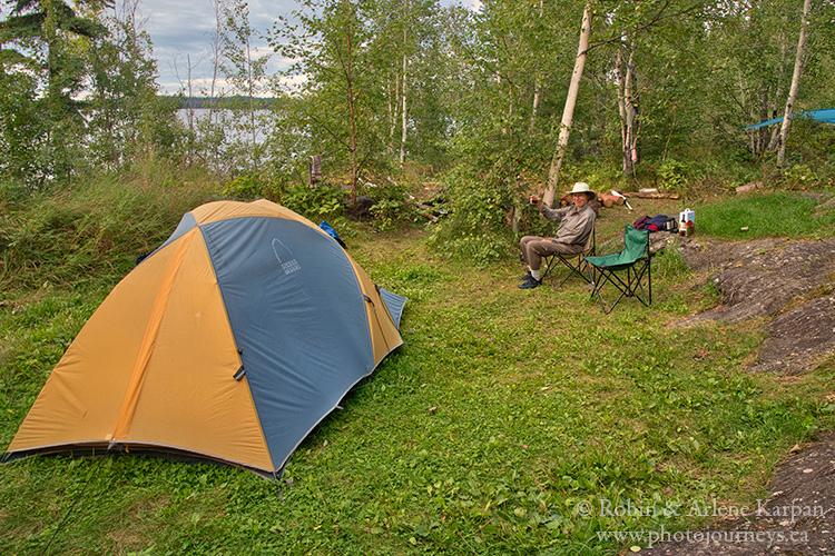 Tent, Robertson Falls