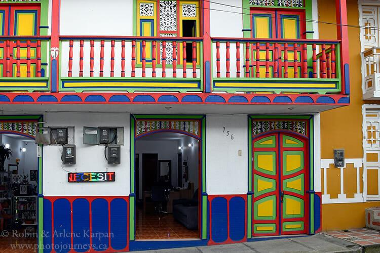 Colourful homes, Filandia, Colombia