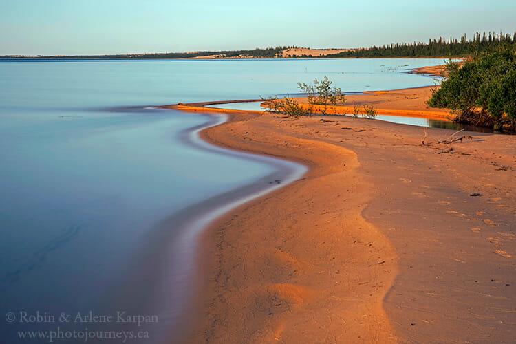 Shoreline, Lake Athabasca, Athabasca Sand Dunes, Saskatchewan
