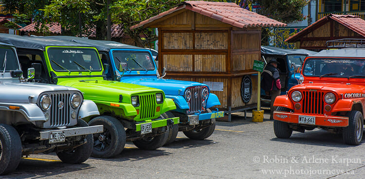 Willys jeeps, Filandia, Colombia