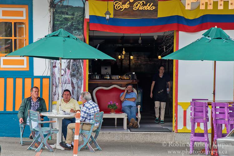 coffee shops, Filandia, Colombia