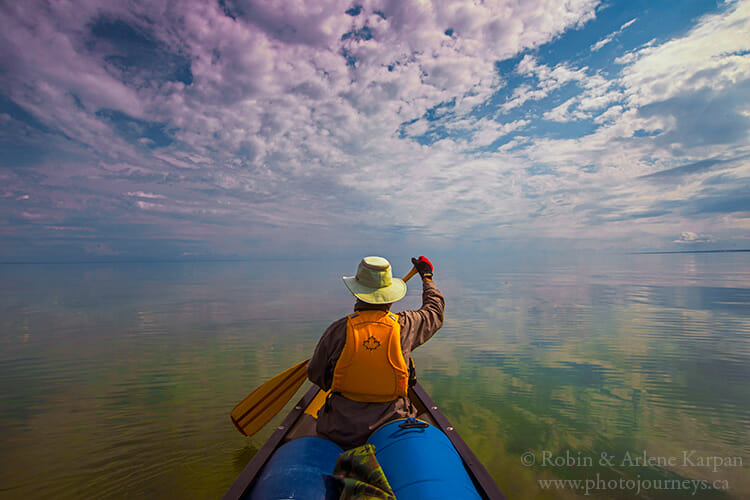 Paddling on Lake Athabasca in the Land of the Giant Beaver