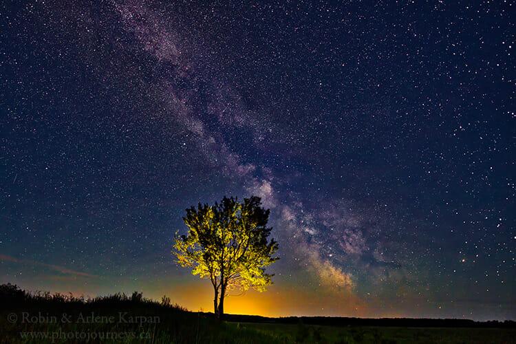 Night sky, Thickwood Hills, Saskatchewan