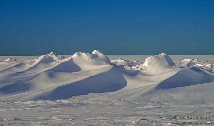 Snow drifts, Saskatchewan, winter photography