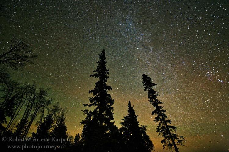 Night sky, Prince Albert National Park, Saskatchewan
