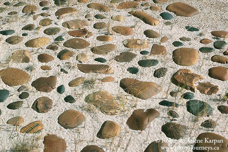 Stones on beach, Lake Athabasca