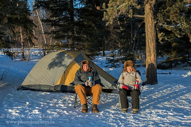 Winter camping, Prince Albert National Park, Saskatchewan