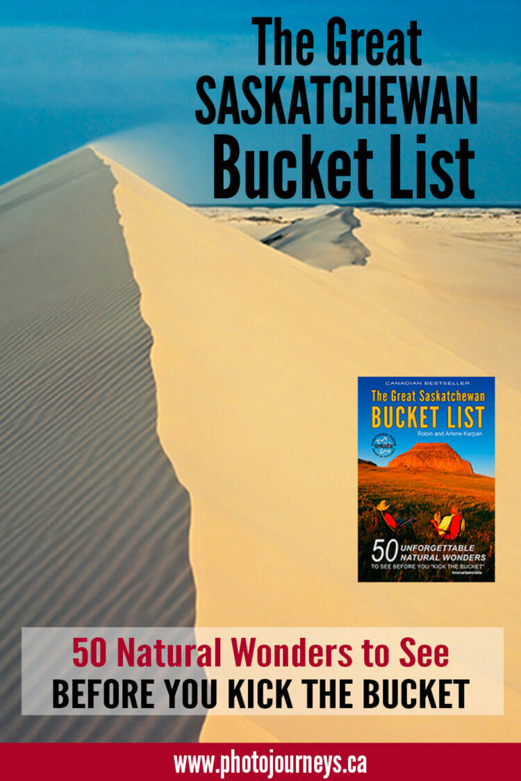PIN for Great Saskatchewan Bucket List book