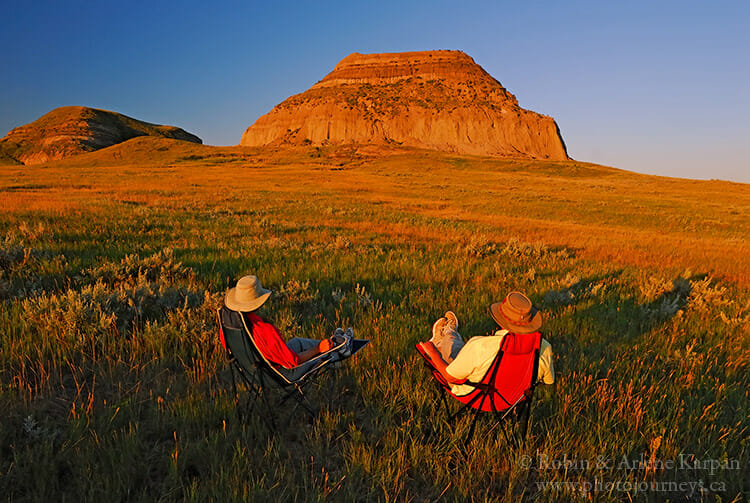 Sunrise, Castle Butte, Big Muddy Badlands