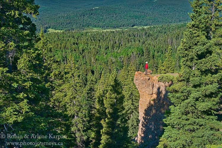 Hidden Conglomerate Cliffs, Cypress Hills, Saskatchewan
