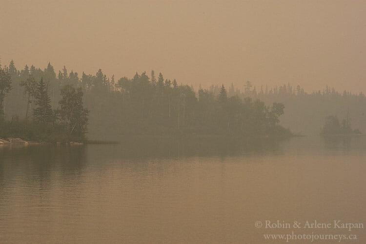 Smoke, Wood Lake, SK