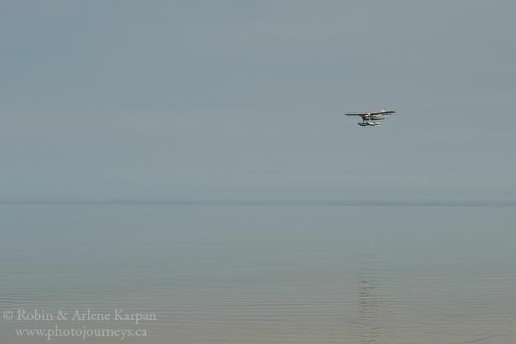 Smoky conditions, Lake Athabasca
