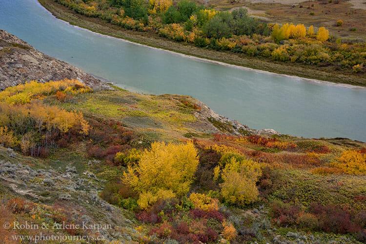 Red Deer River near Drumheller, Alberta.
