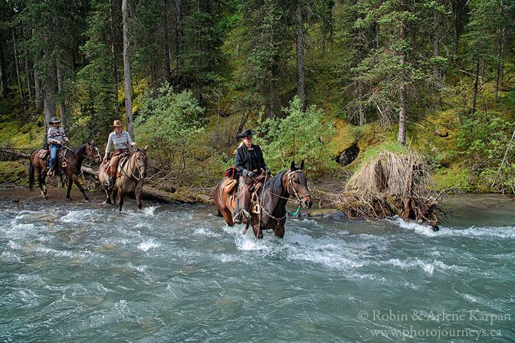 Trail ride, Banff National Park horseback riding adventure