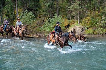 Crossing creek on Trail Ridge, Banff National Park