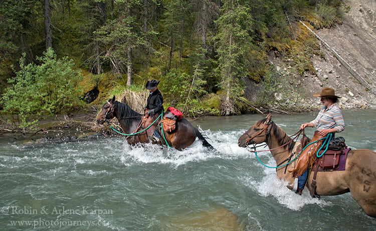 Trail ride, Banff National Park backcountry adventure