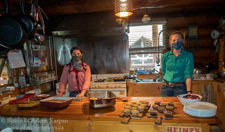 Kitchen staff, Sundance Lodge, Banff National Park