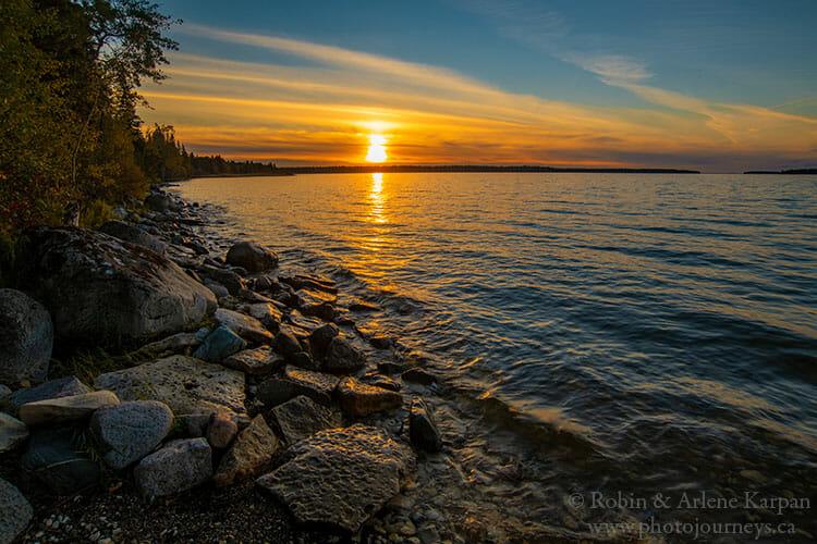 Sunset, Amisk Lake