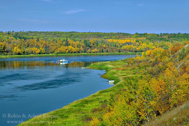 St Laurent Ferry across the South Saskatchewan River.