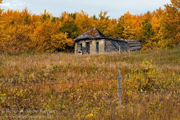 Log house, Saskatchewan